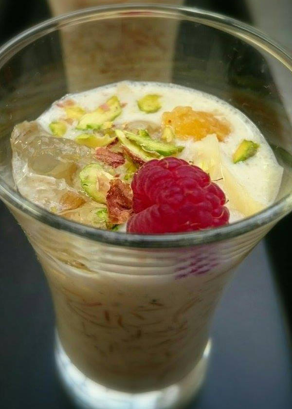 Vermicelli Kheer Topped with Elderflower Jelly