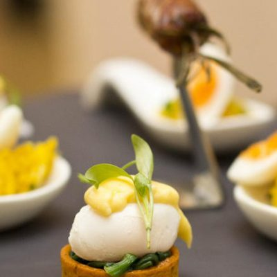Poached Quail's Egg Florentine