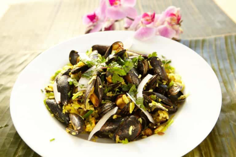 Mussel Pilau Goan style